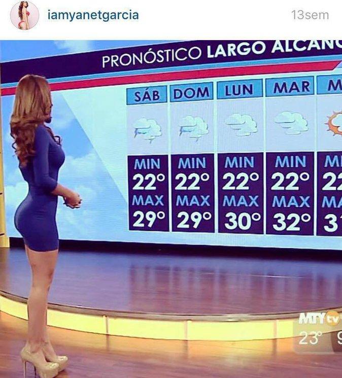 Public Buzz : Photos : Une présentatrice météo au fessier de rêve fait grimper la température !