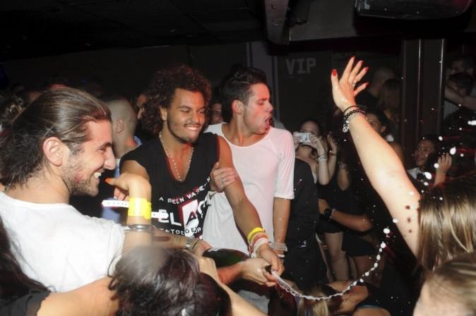 Les sortants de Secret Story 5 lors d'une soirée endiablée au Duplex à Paris, le 2 septembre 2011.