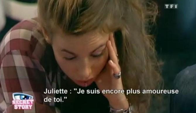 Des sentiments que partage Juliette ...