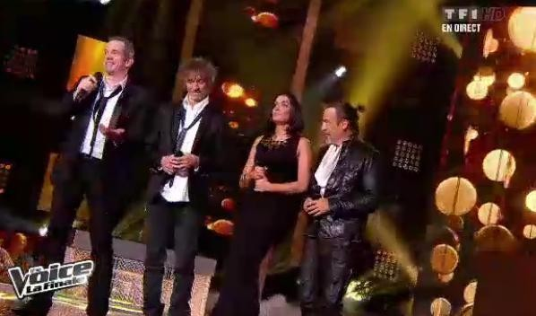 Les 4 coachs chantent ensemble