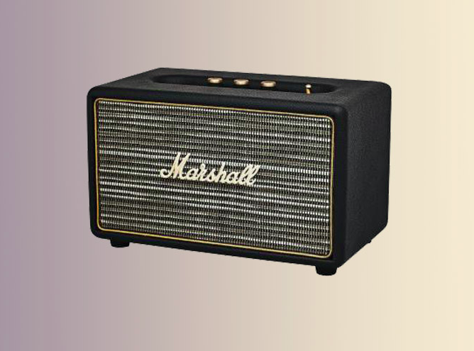 wanted l 39 enceinte bluetooth marshall acton black. Black Bedroom Furniture Sets. Home Design Ideas