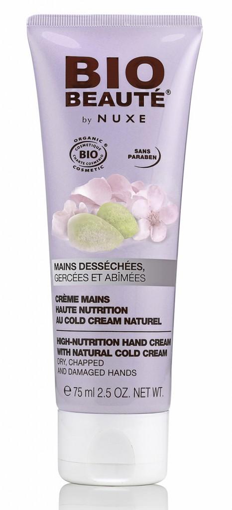 Crème mains haute nutrition, Bio Beauté by Nuxe. 11,50 €.