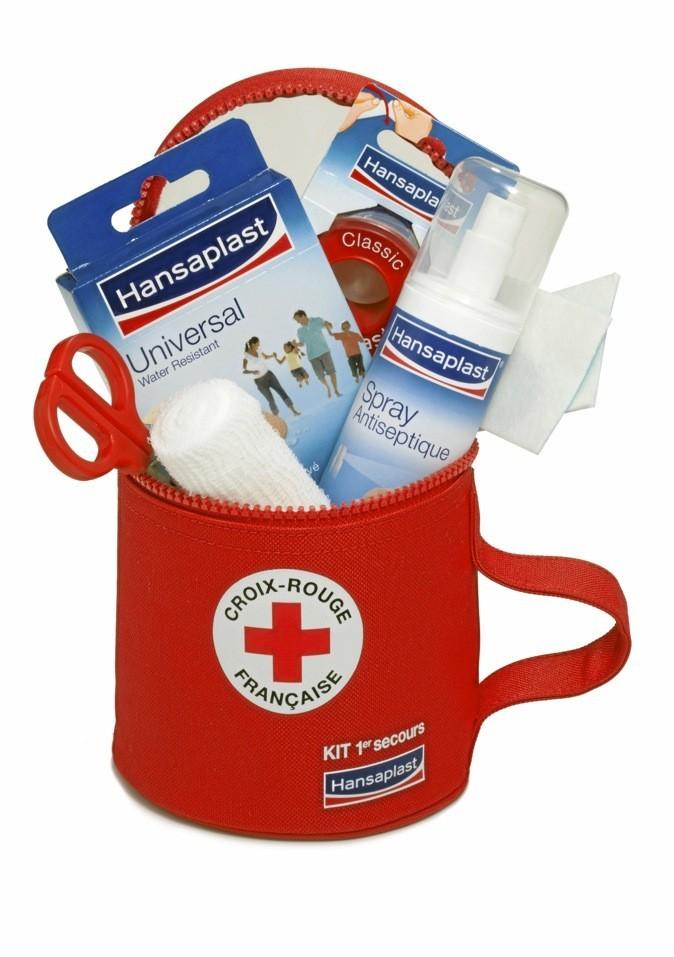 Kit premiers secours, Hansaplast (1,50 € reversé à la Croix-Rouge) 11,90 €