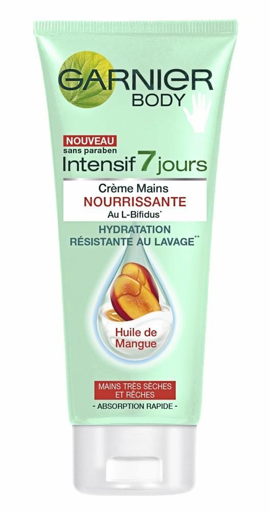 Pour de belles mains et non des griffes: Crème Mains Nourrissante, Intensif 7 Jours, Garnier Body 3,30 €