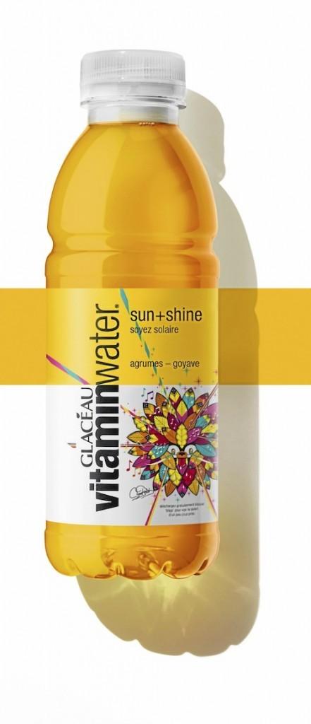 Boisson à l'eau vitaminée, sun + shine, Vitaminwater entre 1,50 € et 2,80 €