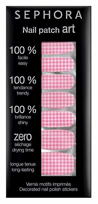 Vernis tendance printemps-été 2011 :  des patchs Sephora pour les ongles