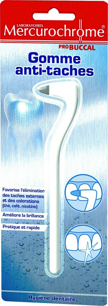 Le bon shopping pour de belles dents : Gomme dentaire Anti-taches, Mercurochrome 3,50 €