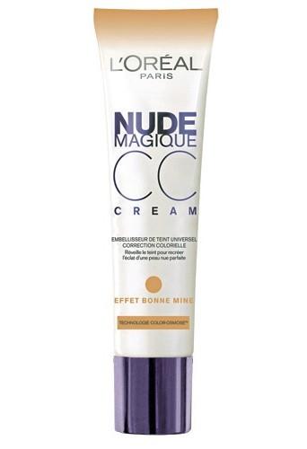4 - CC Cream, Nude Magique, effet bonne mine, L'Oréal.14,50€.