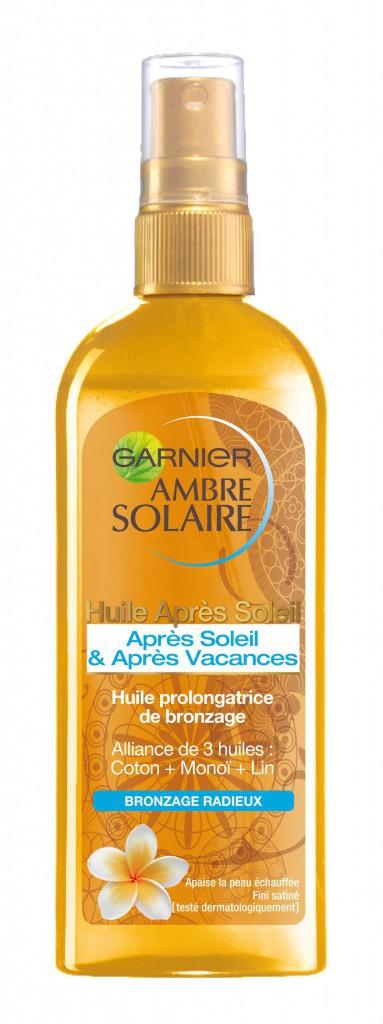 Huile Après Soleil & Après Vacances, Ambre Solaire, Garnier 9,20€
