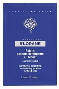 Patchs lissants défatigants au bleuet, Klorane. 13,80 €.
