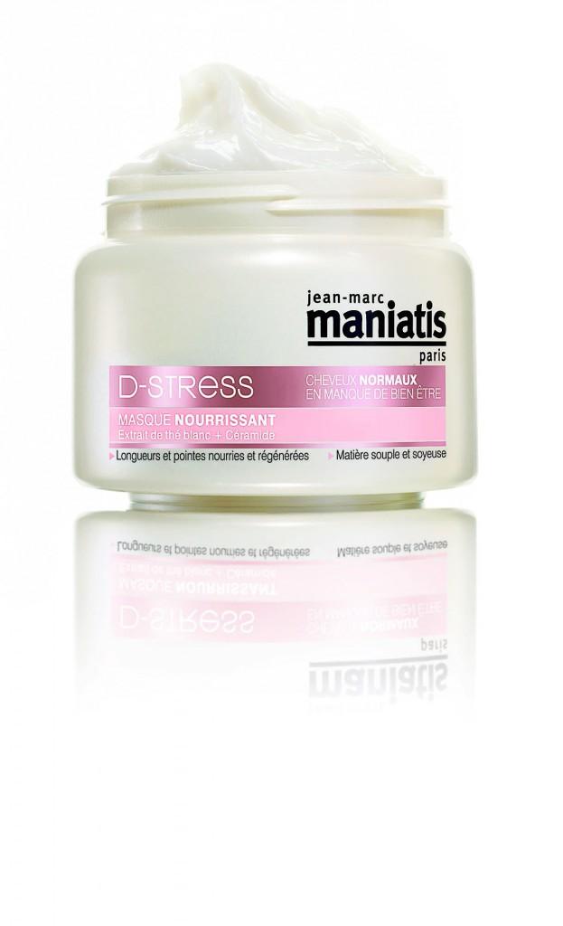 12. Masque nourrissant cheveux D-Stress, Jean-Marc Maniatis. 14,90 €.