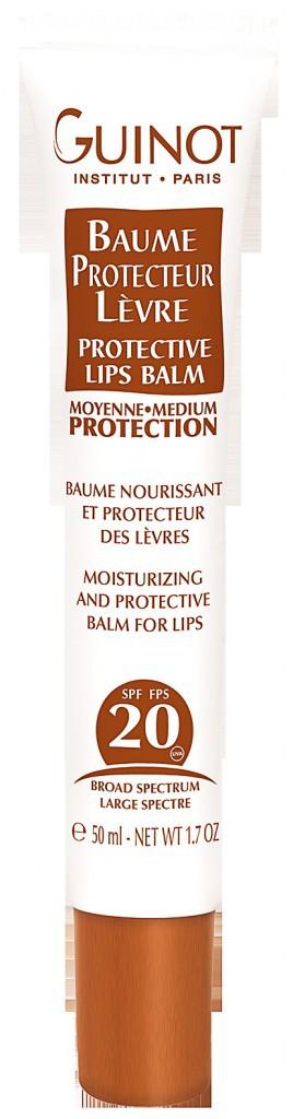 9. Baume protecteur lèvre SPF 20, Guinot. 15€.
