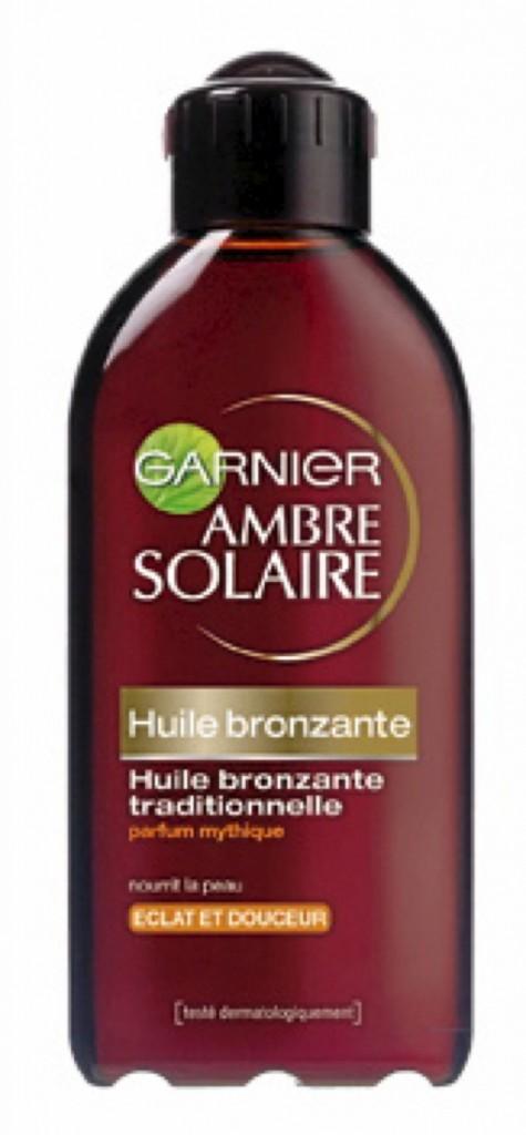 Huile bronzante traditionnelle, Garnier 9 €