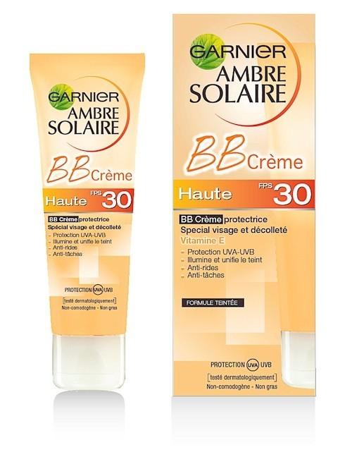 BB Crème protectrice, SPF 30, Ambre Solaire, Garnier 12,50 €