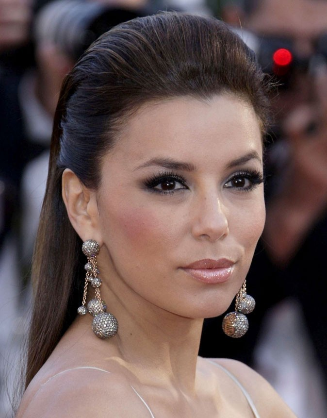 Festival de Cannes 2011 : la coiffure wet look d'Eva Longoria en 2010 !