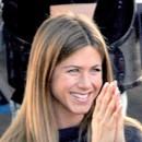 Jennifer Aniston : ses cheveux longs lissés en octobre 2004