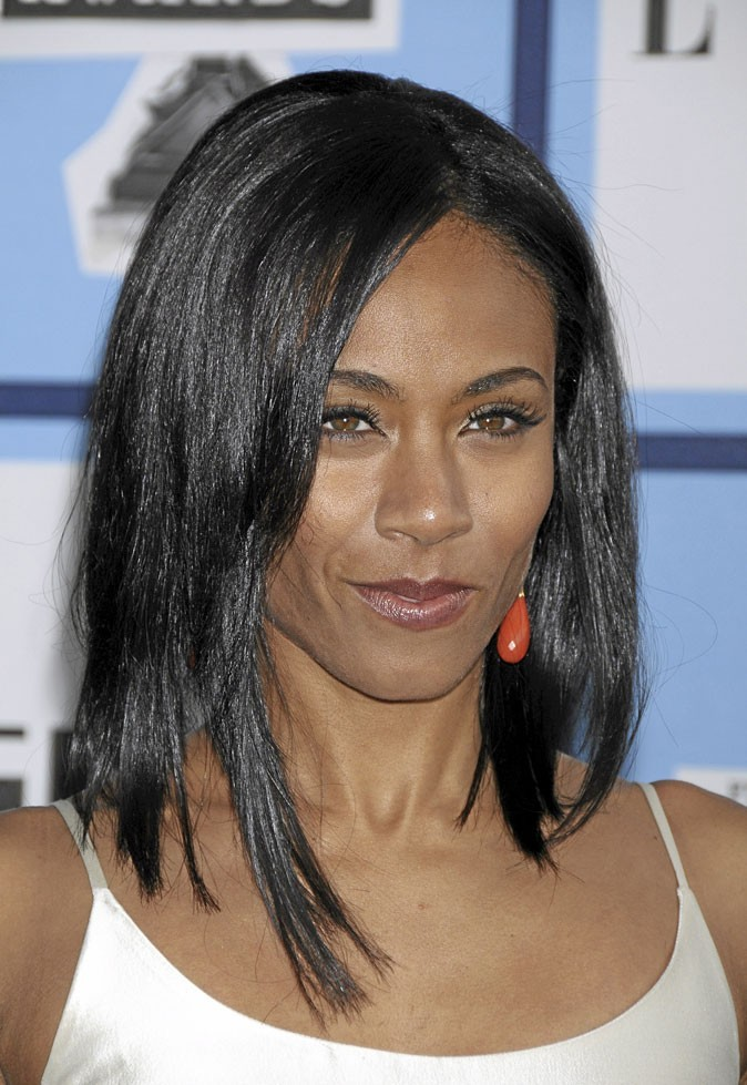 Cheveux afro : le brushing lisse de Jada Pinkett Smith