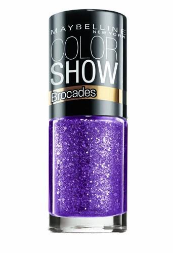 Coup de coeur : Vernis à ongles violet, Collection Brocades, Color Show, Gemey-Maybelline, 3,80 €
