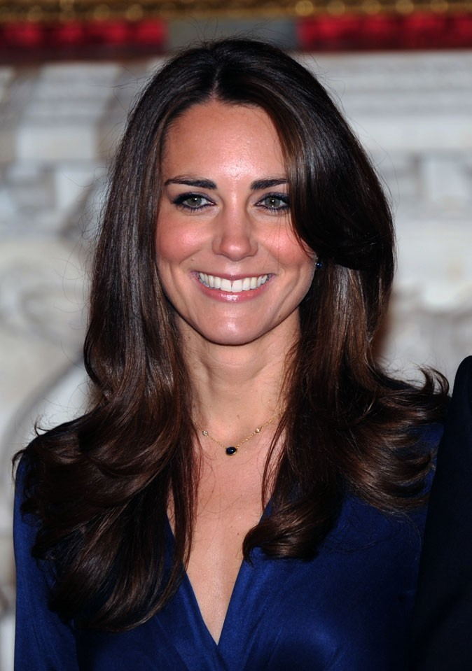 Star brune : les cheveux marron chocolat de Kate Middleton