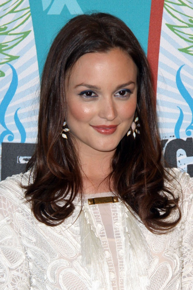 Star brune : les cheveux marron chocolat de Leighton Meester