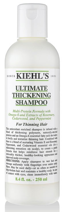 Shampooing épaississant, Ultimate Thickening, Kiehl's. 24 €.