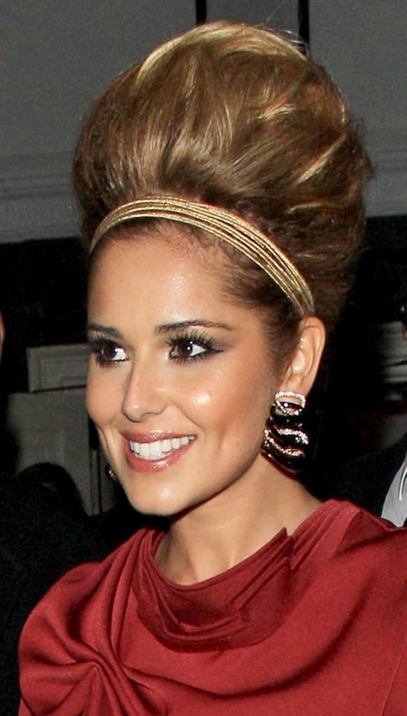 Coiffure de Cheryl Cole en septembre 2011 : un chignon ultra gonflé