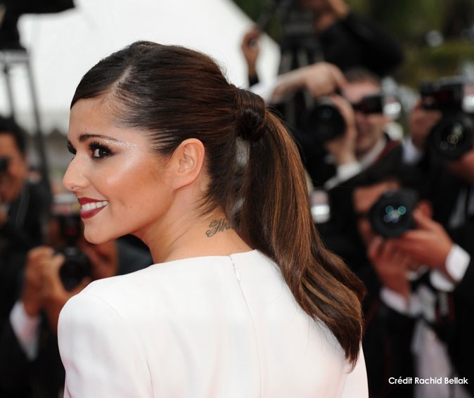 Coiffure de star au Festival de Cannes 2011 : la queue de cheval lissée de Cheryl Cole