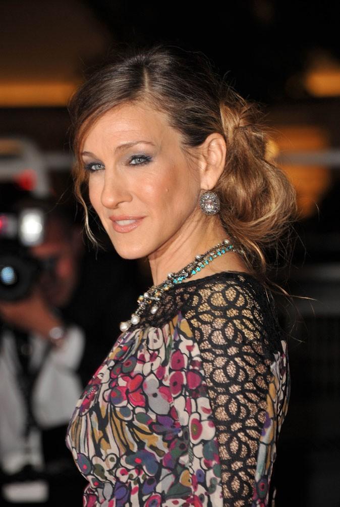 Coiffure de star au Festival de Cannes 2011 : le chignon bas de Sarah Jessica Parker