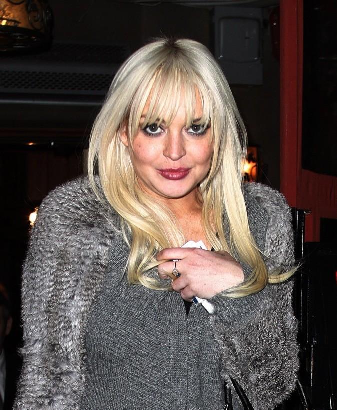 Lindsay Lohan, sur la joue droite !
