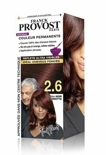 Couleur permanente pour cheveux foncés, 2.6, Mon Noir Griotte, Franck Provost 6,49 €