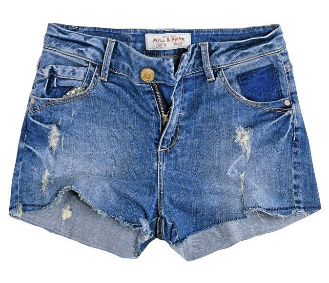 Short en jean taille haute, Pull&Bear 19 €