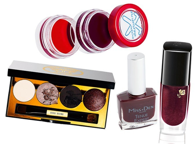 Maquillage tendance hiver 2011 : couleur prune