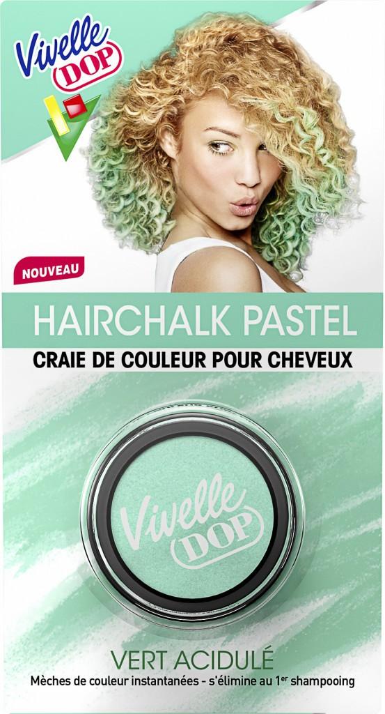 Craie de couleur pour cheveux, Hairchalk pastel, Vert acidulé, Vivelle Dop 7,99€