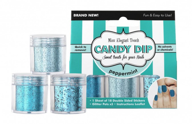 Paillettes à ongles, Candy Pip, Peppermint, Miss Elegant Touch 7,95€