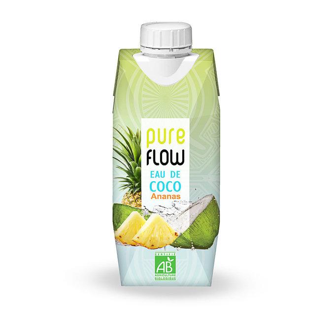 Eau de Coco et ananas - Pure Flow : 2,80€