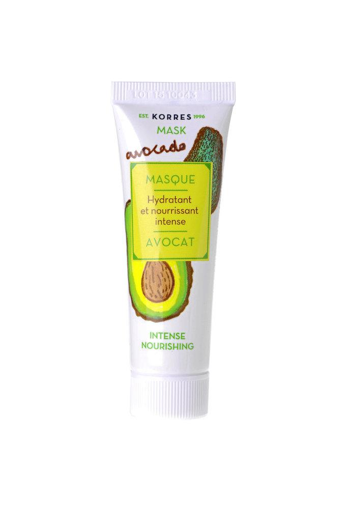 Masque Avocat, hydratant et nourrissant intense, Korres. 7,90 €.