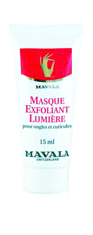 Masque Exfoliant Lumière pour ongles et cuticules, Mavala. 12,40 €.