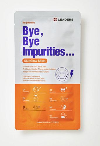 Masque tissu en bio-cellulose Bye, Bye Impurities, Leaders chez Marionnaud. 5,90 €.