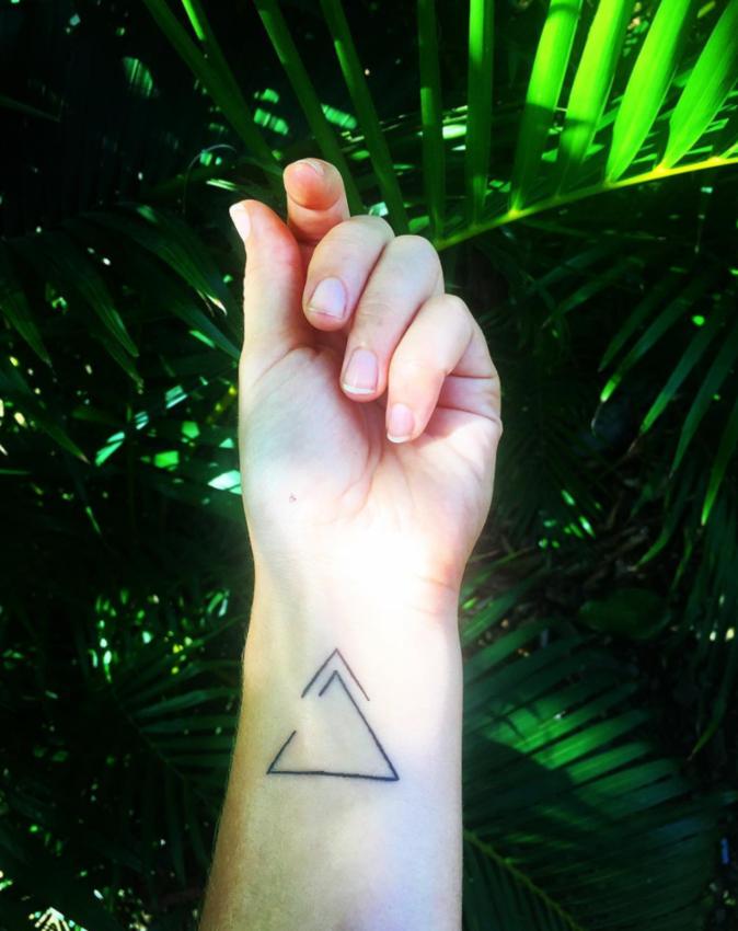 Tatouages pour le poignet : une forme géométrique
