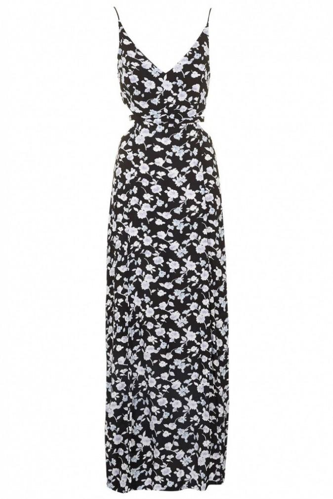 Maxi robe à fleurs ombrées,Topshop, 64 €