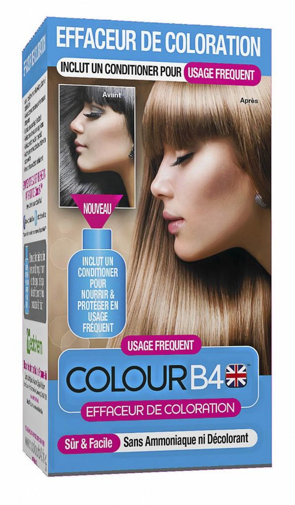 Notre conseil pour les 25/40 ans : Effaceur de coloration Usage Fréquent, Colour B4 chez Monoprix 13,95 €