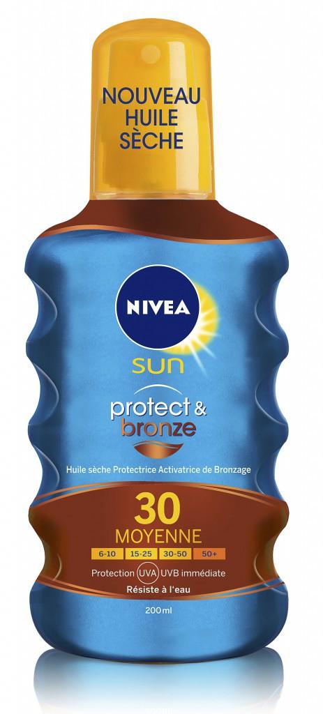 Huile sèche Protectrice, SPF 30, Protect & bronze, Nivea Sun 11,49 €