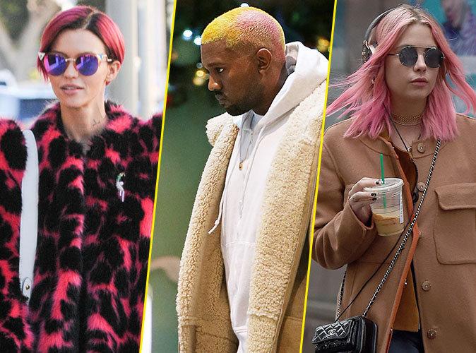 Ruby Rose, Kanye West, Ashley Benson : Pour 2017, ils sont passés aux cheveux roses !