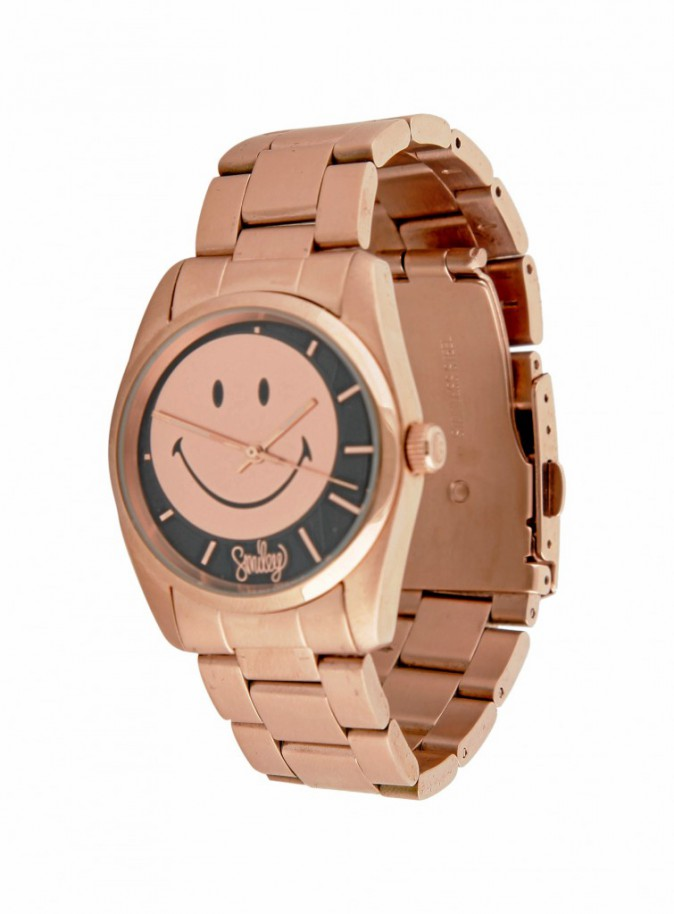 Montre couleur bronze, Smiley,178 €