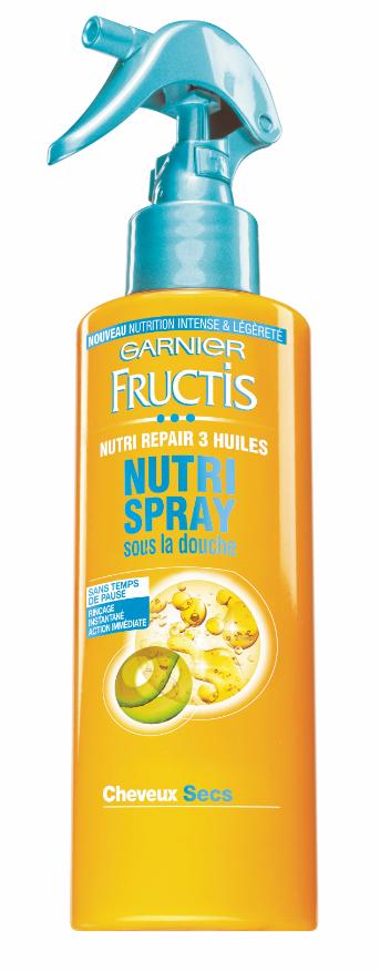 Pendant l'exposition : Nutri spray, Fructis Garnier 11,80€