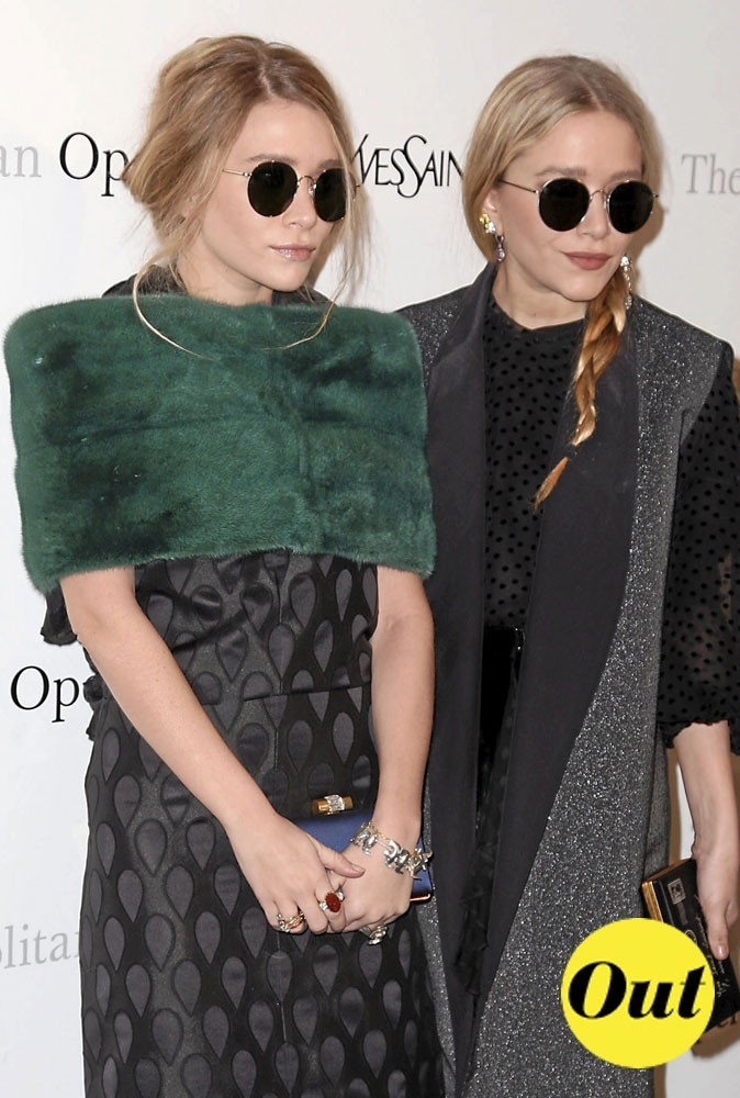 Les lunettes en soirée des soeurs Olsen pour l'été 2011