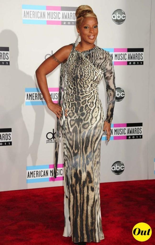 Mary J Blige choisit l'imprimé animal à fond!