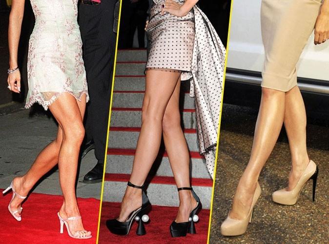 Chaussures de Victoria Beckham  défilé de shoes vertigineuses !