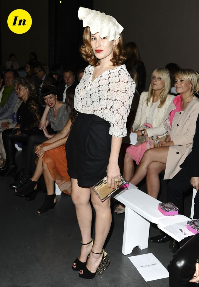 Fashion Week de Londres : Charlotte Dellal au défilé Matthew Williamson !