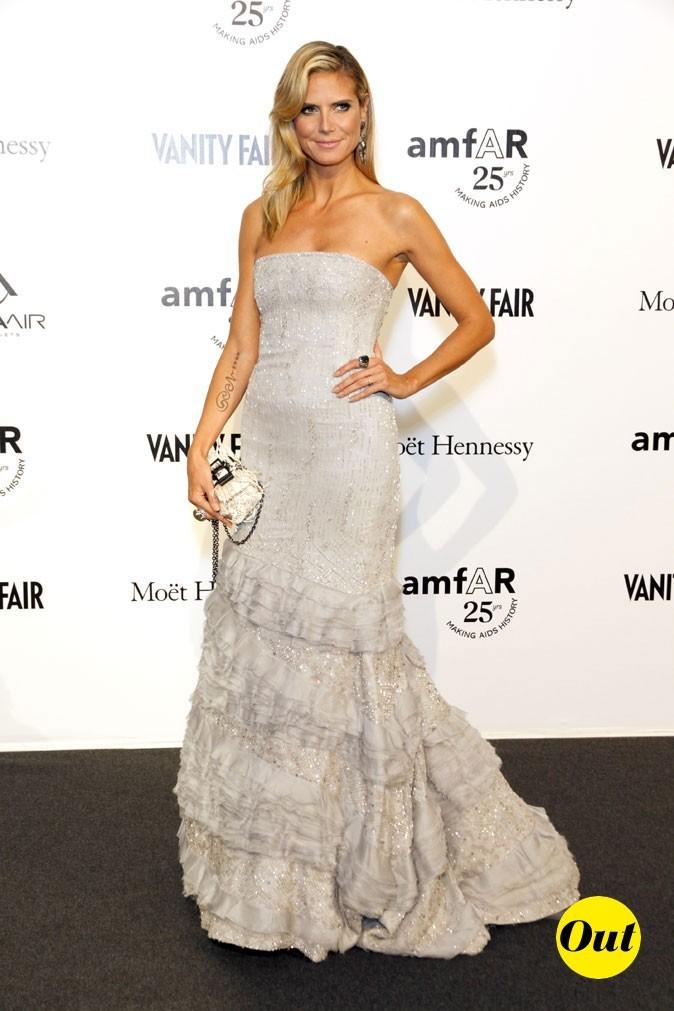 Fashion Week de Milan : Heidi Klum au gala de l'amFAR !